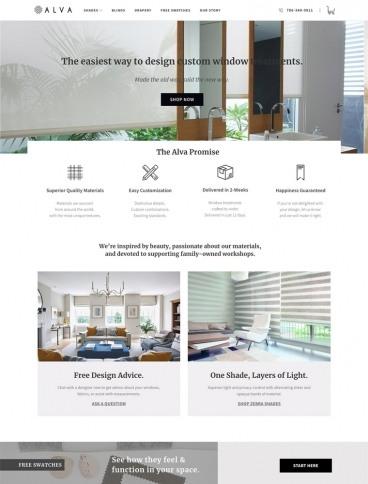 eCommerce website: Alva