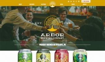eCommerce website: Arbor Brewing Co.