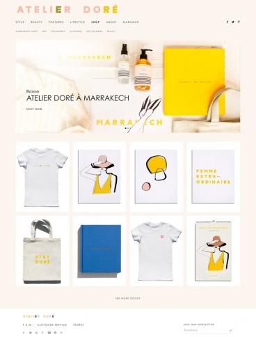eCommerce website: Atelier Doré