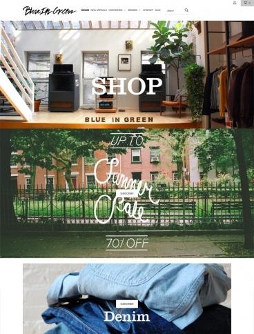 eCommerce website: Blue In Green
