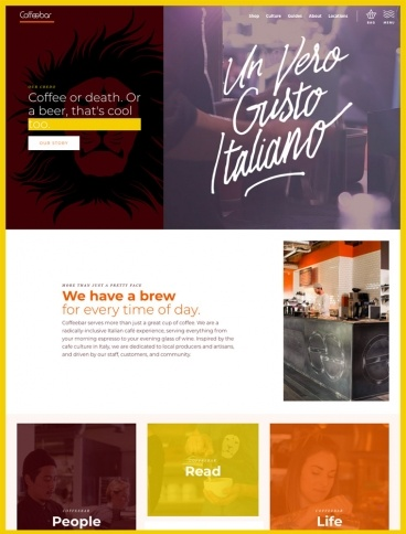 eCommerce website: Coffeebar Reno