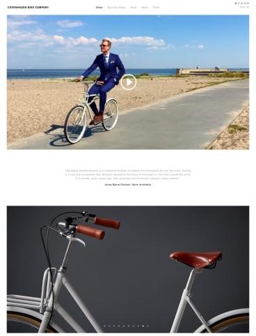 eCommerce website: Copenhagen Bike Company