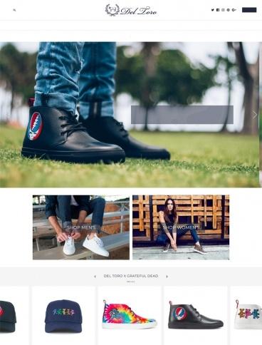 eCommerce website: Del Toro