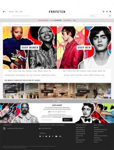 eCommerce website: Farfetch