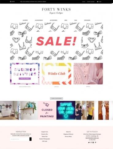 eCommerce website: Forty Winks Lingerie