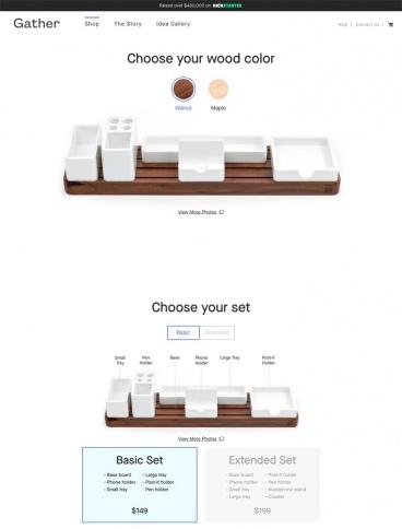 eCommerce website: Gather