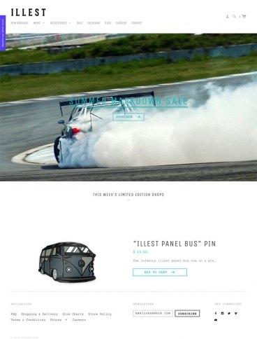 eCommerce website: Illest Brand