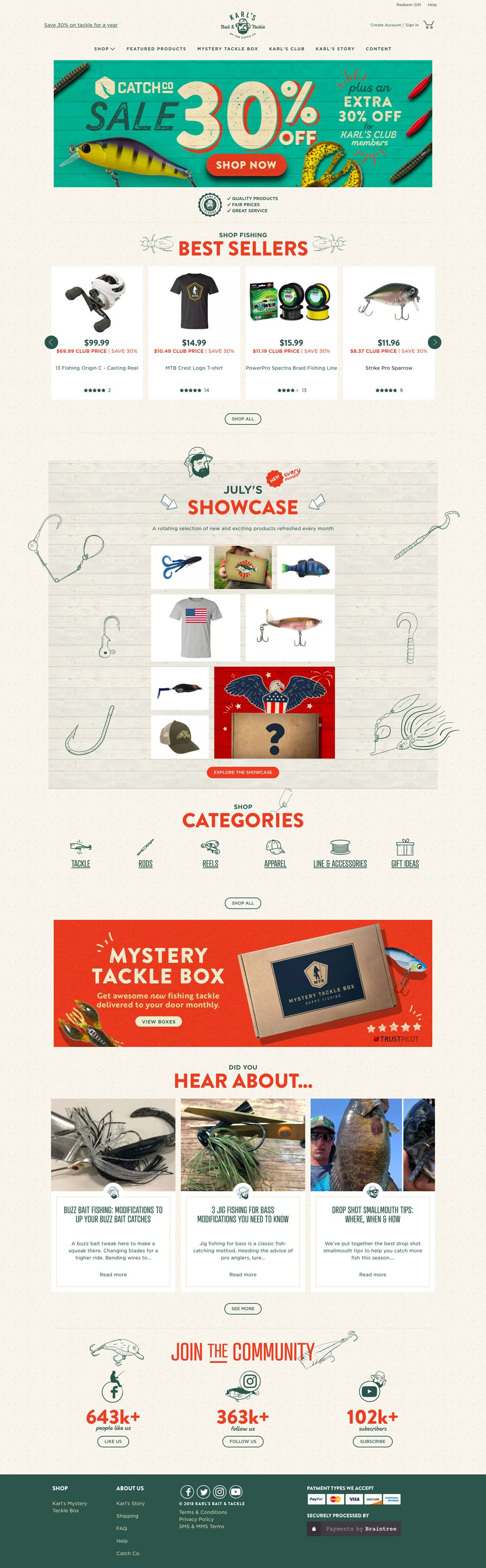 eCommerce website: Karl's Mystery Tackle Box
