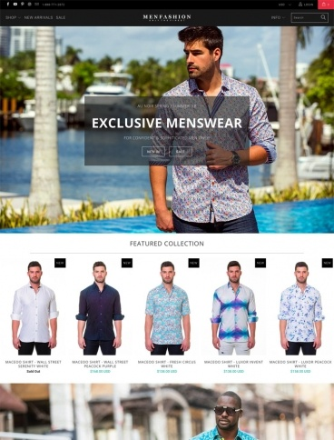 eCommerce website: MenFashion.com