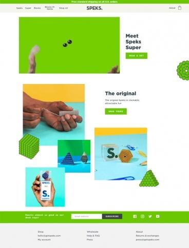 eCommerce website: Speks