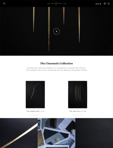 eCommerce website: The Thin Gold Line