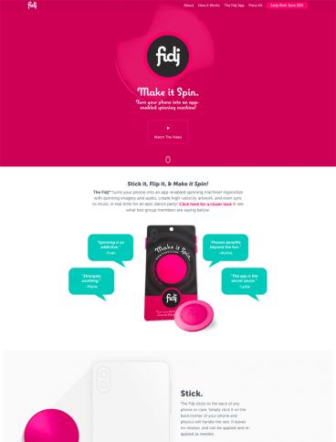 eCommerce website: TheFidj