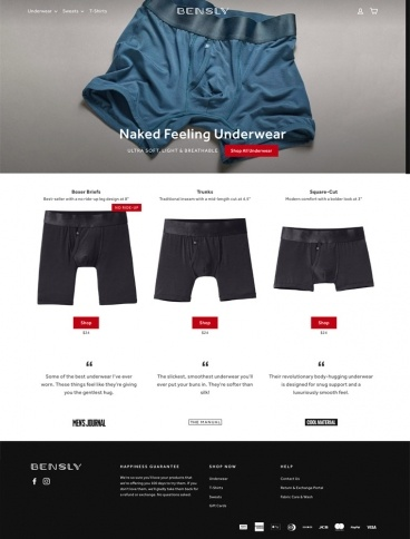 eCommerce website: Bensly