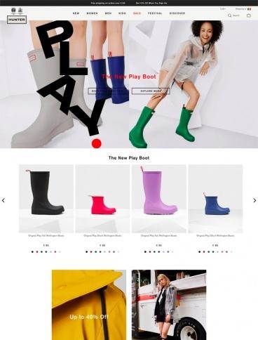 eCommerce website: Hunter