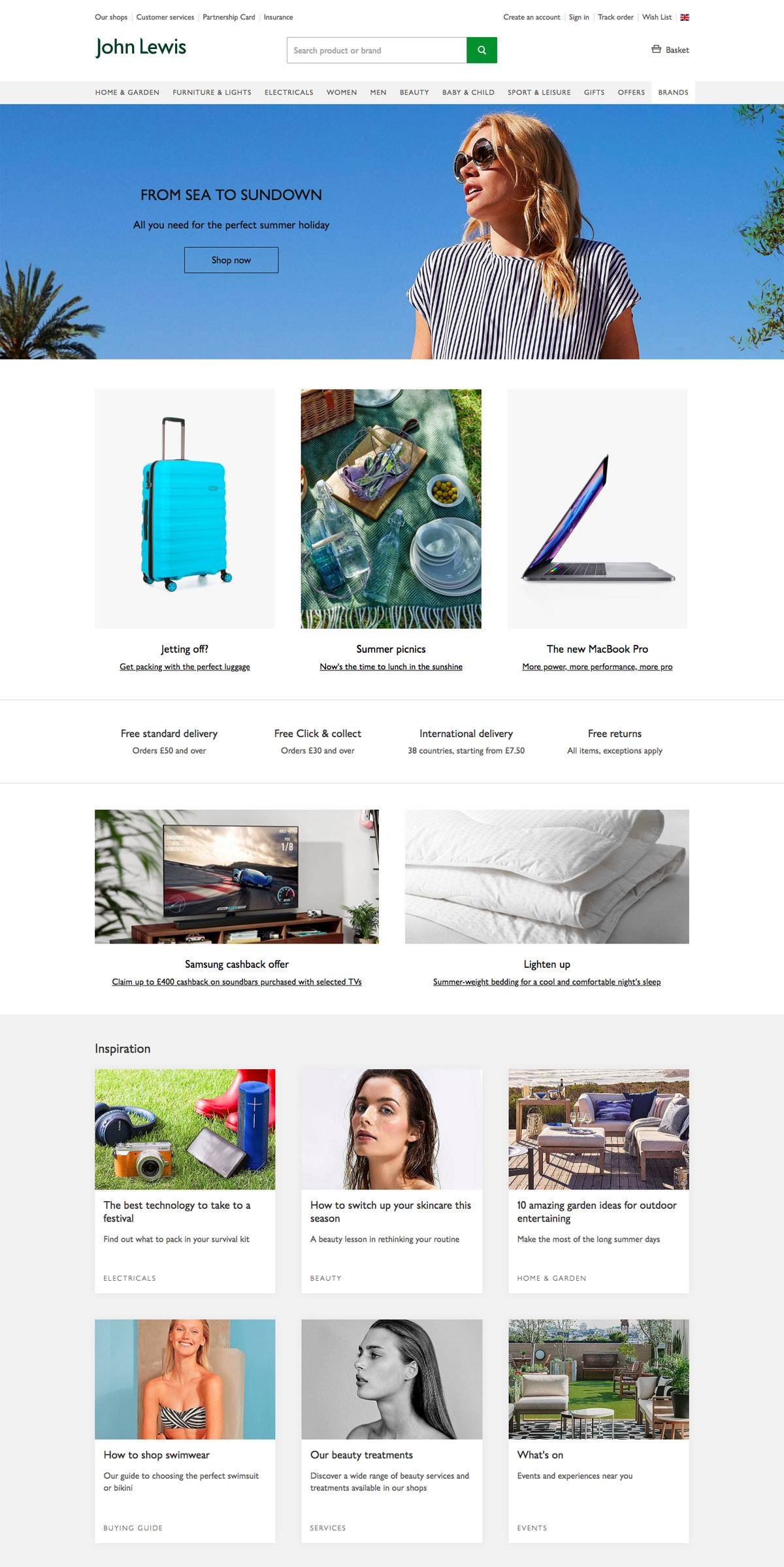 eCommerce website: Lohn Lewis