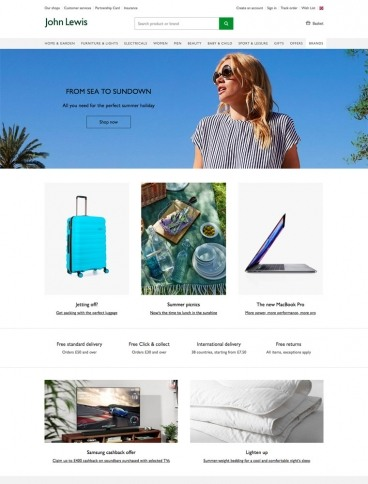 eCommerce website: Lohn Lewis