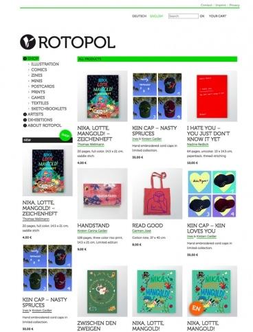 eCommerce website: rotopolpress