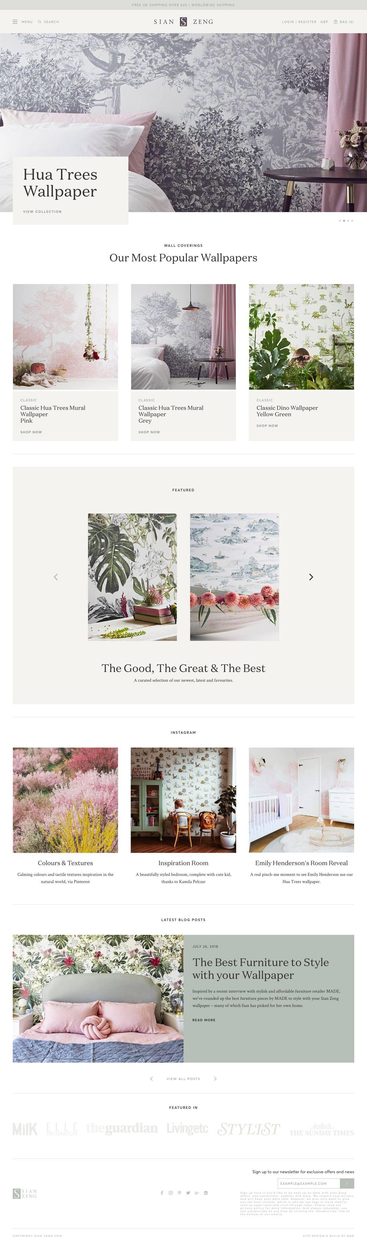 eCommerce website: Sian Zeng