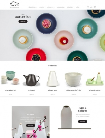 eCommerce website: Bisonhome