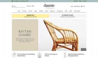 eCommerce website: Dassie Artisan