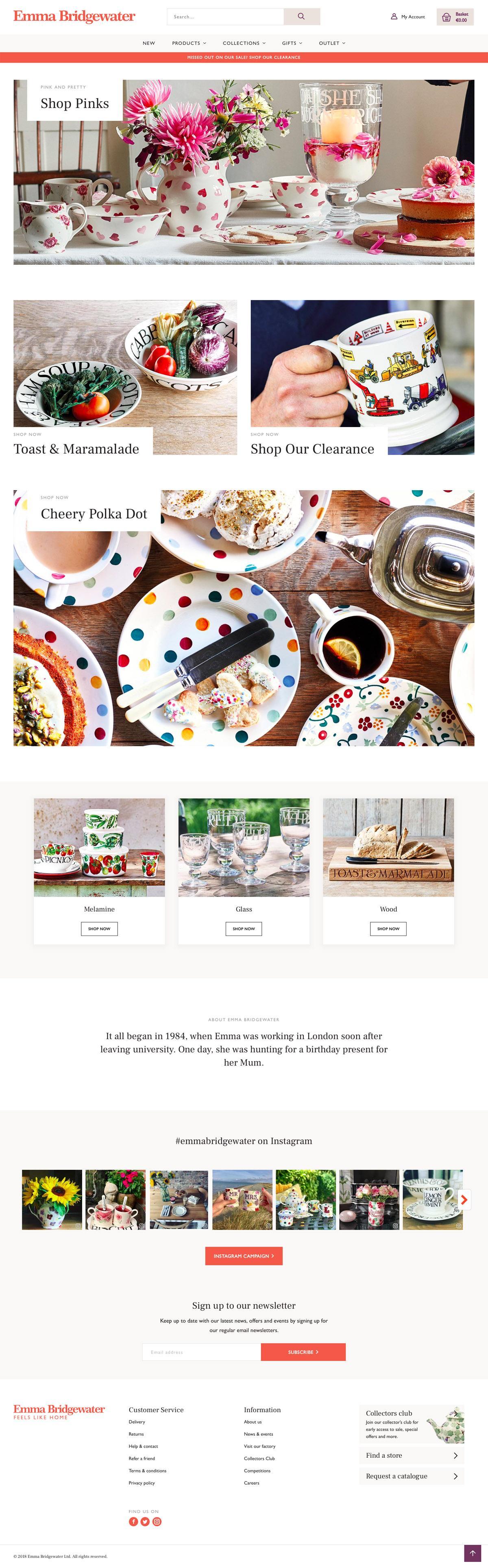 eCommerce website: Emma Bridgewater