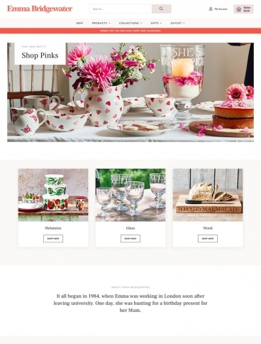 eCommerce website: Emma Bridgewater