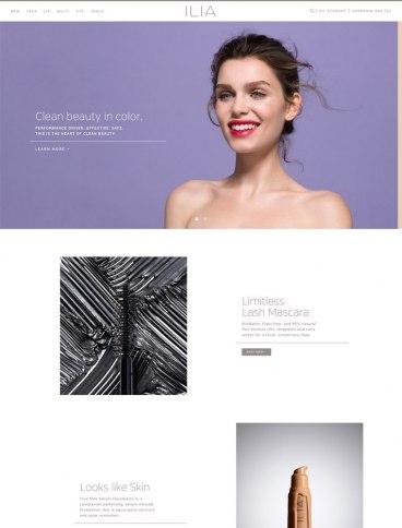 eCommerce website: Ilia