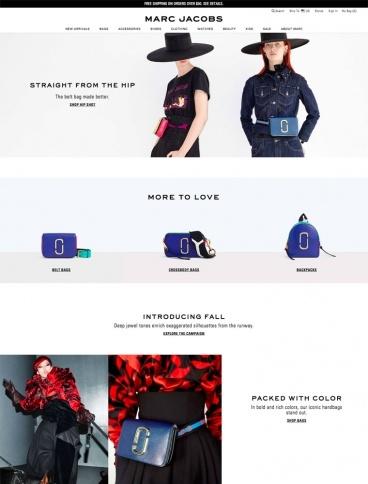 eCommerce website: Marc Jacobs