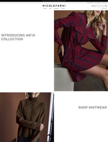 eCommerce website: Nicole Farhi