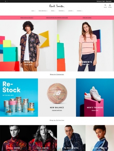 eCommerce website: Paul Smith