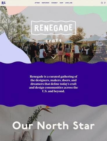 eCommerce website: Renegade Craft