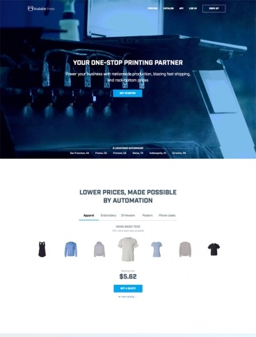 eCommerce website: Scalable Press