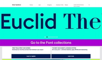eCommerce website: Swiss Typefaces