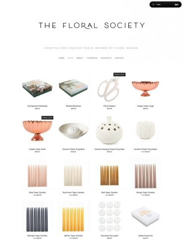 eCommerce website: The Floral Society