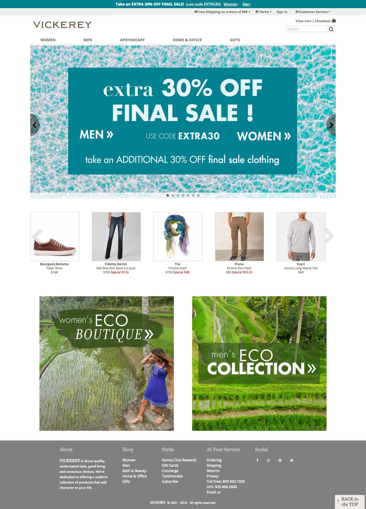 eCommerce website: Vickerey