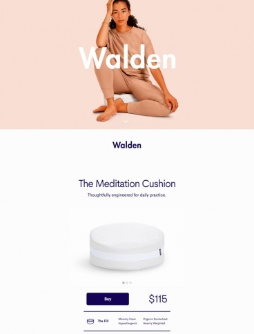 eCommerce website: Walden