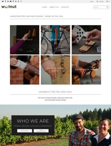 eCommerce website: Walnut Studiolo