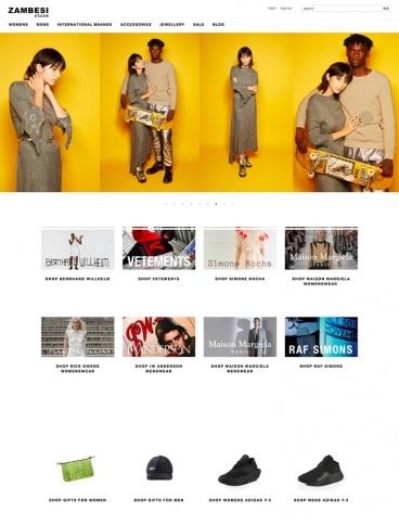 eCommerce website: Zambesi