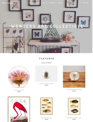 eCommerce website: Animaux Speciaux