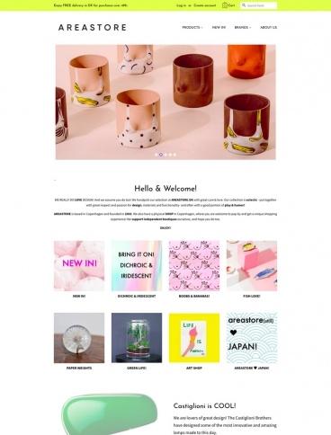 eCommerce website: AREASTORE