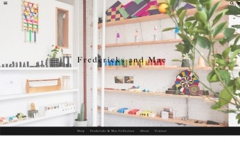eCommerce website: Fredericks & Mae