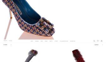 eCommerce website: Manolo Blahnik