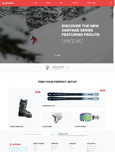 eCommerce website: Atomic