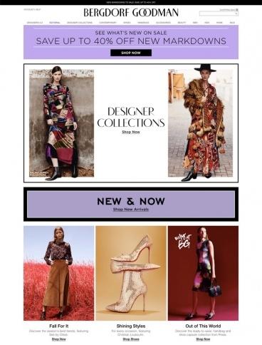 eCommerce website: Bergdorf Goodman