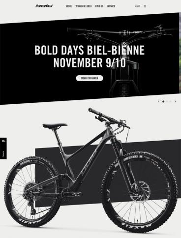 eCommerce website: Bold Cycles Ltd.