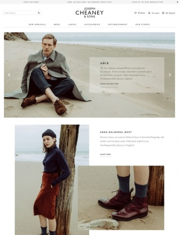 eCommerce website: Cheaney Shoes