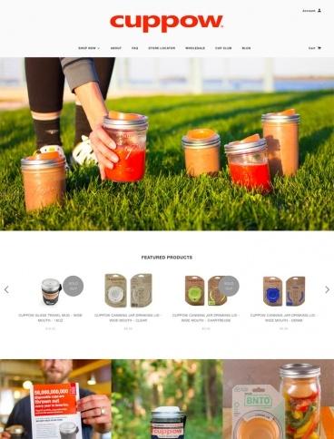 eCommerce website: Cuppow