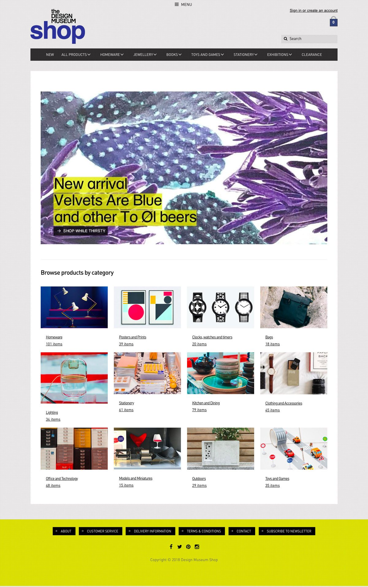 eCommerce website: Design Museum Shop
