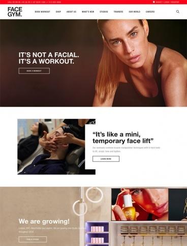 eCommerce website: FACEGYM