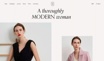 eCommerce website: Isabelle Fox